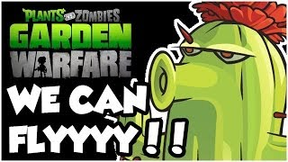 Plants vs. Zombies Garden Warfare - YES I'M FLYING!! Gameplay Walkthrough (1080p HD)