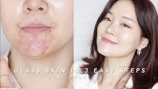How to get Glass Skin in 3 steps #lazygirlhack   단 3단계로 광채피부만들기!