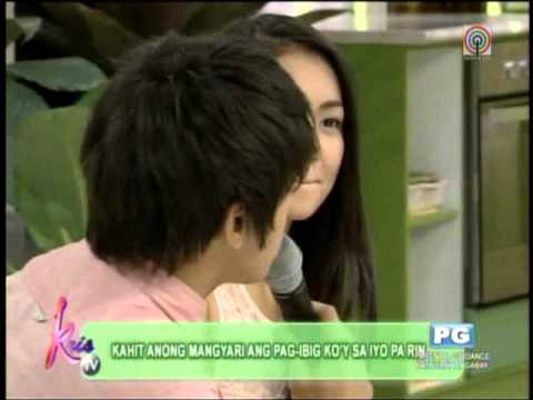 Daniel serenades Kathryn on 'Kris TV'
