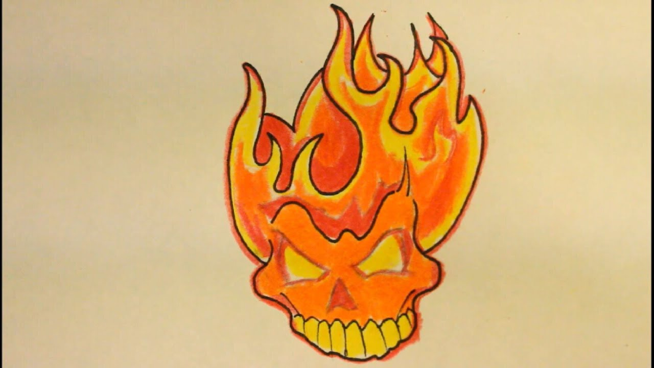 how to draw flames for beginners