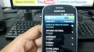 Como Configurar Wifi Samsung Galaxy S3 Mini Español Full