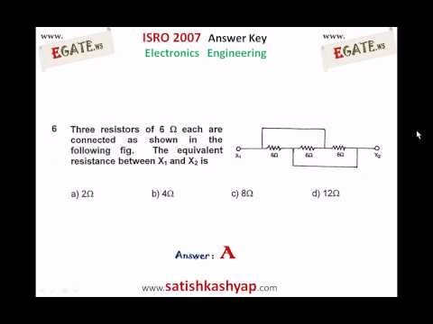 ISRO 2007 Answer Keys Electronics