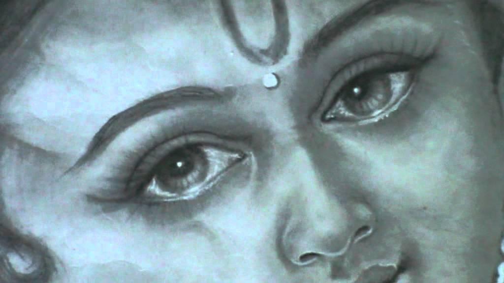 lord krishna pencil art by koodalkannan  south india
