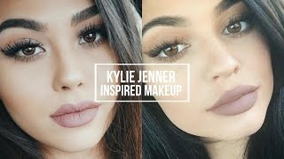 KYLIE JENNER INSPIRED MAKEUP TUTORIAL | Natural Smokey Eye + Classic Kylie Lip | Roxette Arisa