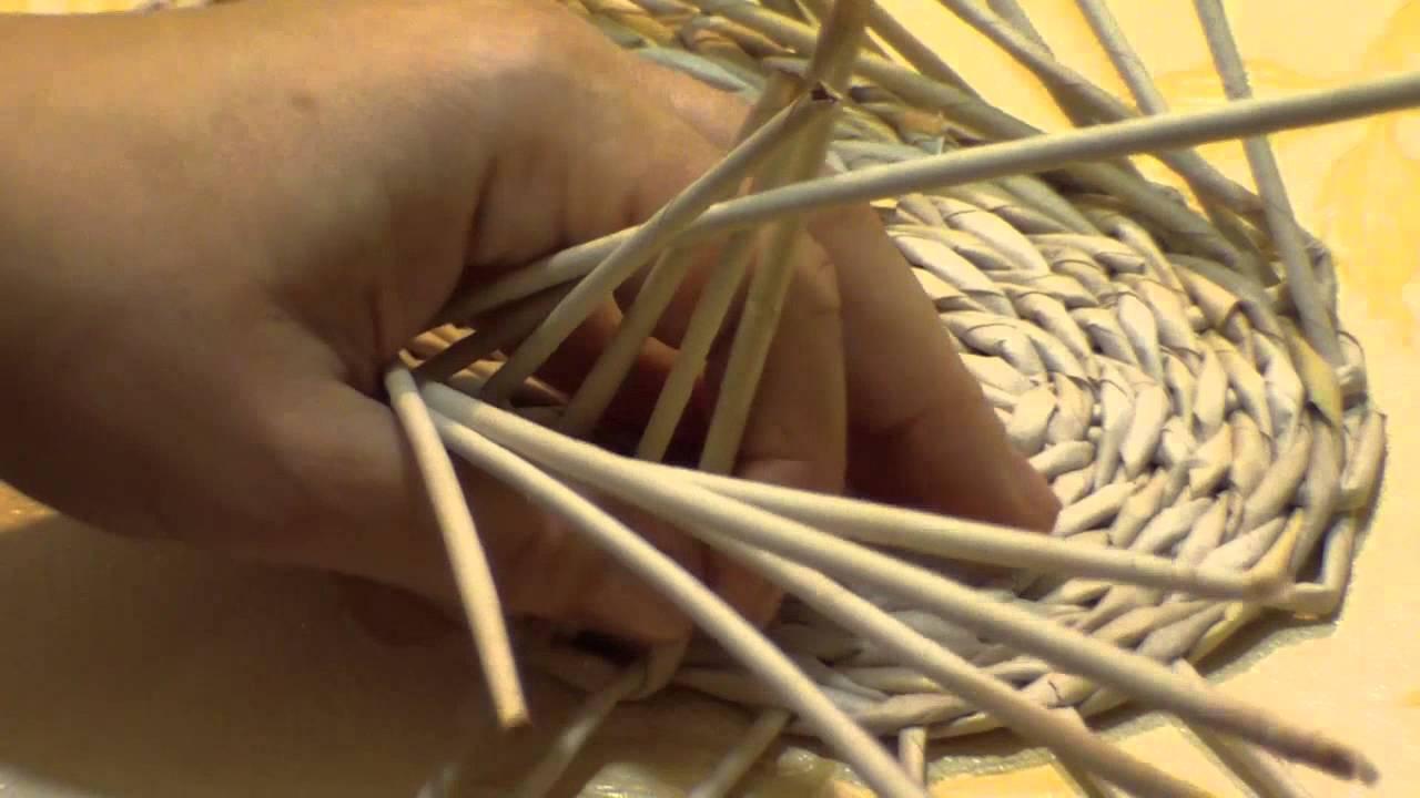 Из газетных трубочек - Плетение из газет