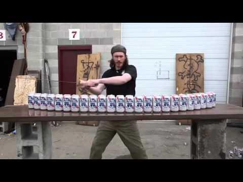 Một nhát kiếm chém bay 24 lon bia, còn kinh khủng hơn cả thanh Katana