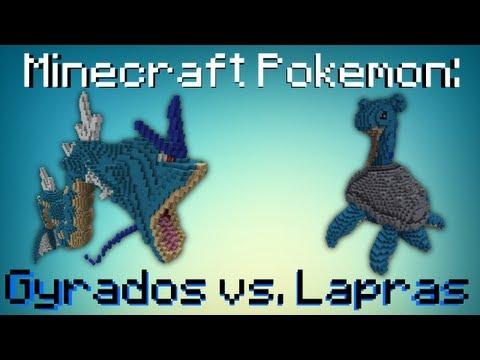 Minecraft Pokemon Gyrados Vs Lapras