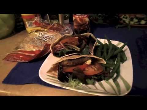 Low Calorie Veggie Burger (ft. Joseph's Pita & Walden Farms Ketchup)