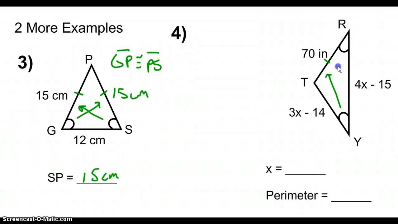 Converse of the Isosceles Triangle Theorem - YouTube