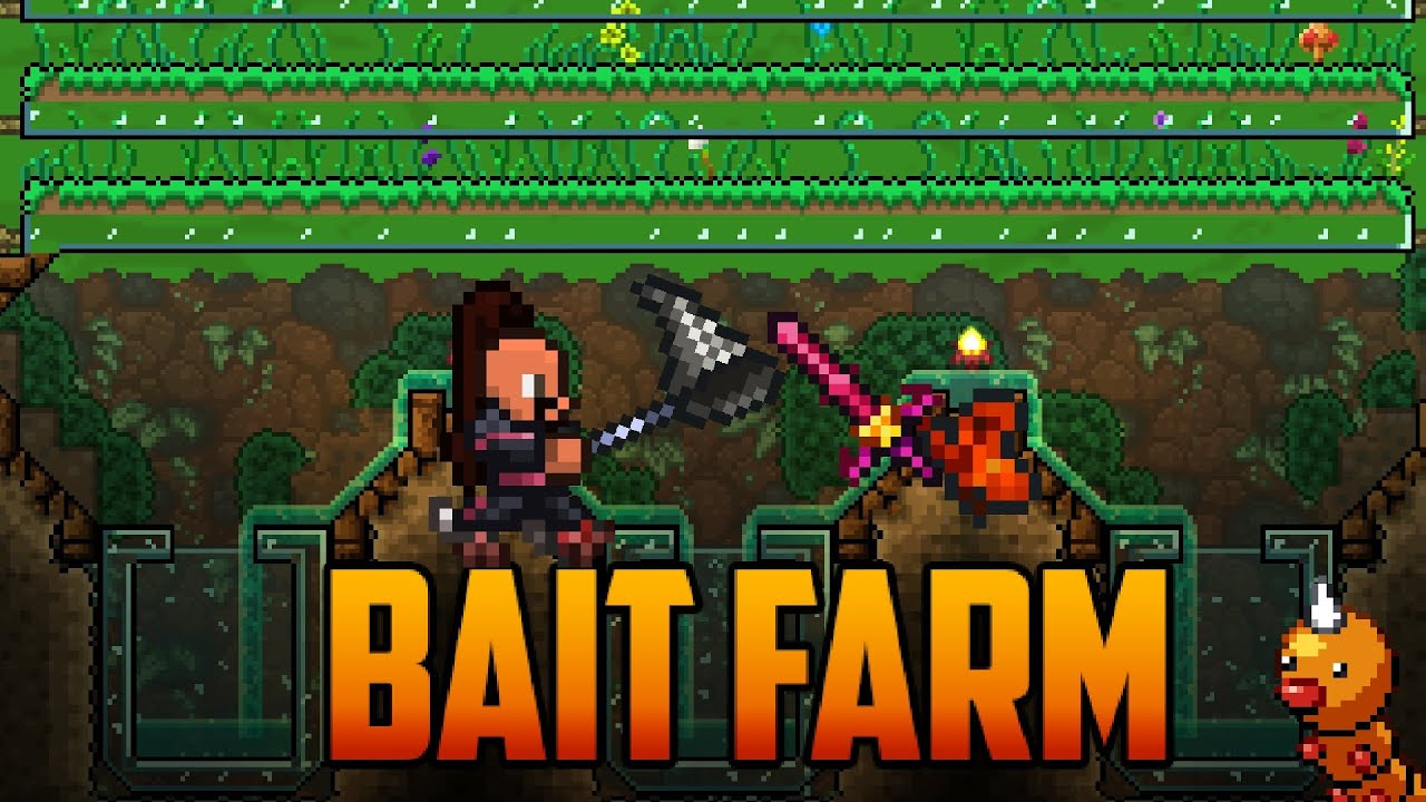 terraria bait farm for worms and grasshoppers youtube