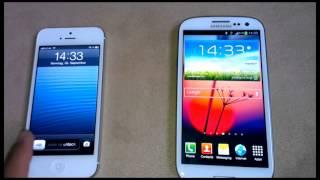iPhone 5 vs Samsung Galaxy S3 pil ömrü karşılaştırma