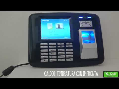 OA1000 Mercury terminale rilevazione presenze rfid / biometrico con sensore Multispectral legge impronte