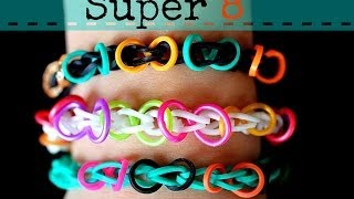 How To Make A Rainbow Loom Super 8 Bracelet
