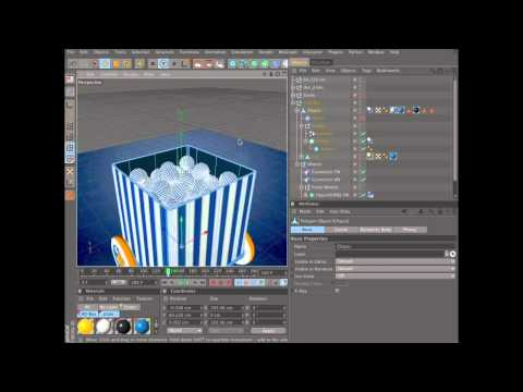 Create an animation using dynamics in Cinema 4D (3 of 6)
