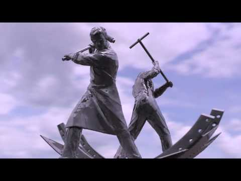 Sculpture Proposal for Port Glasgow - The Shipbuilders - walk around animation