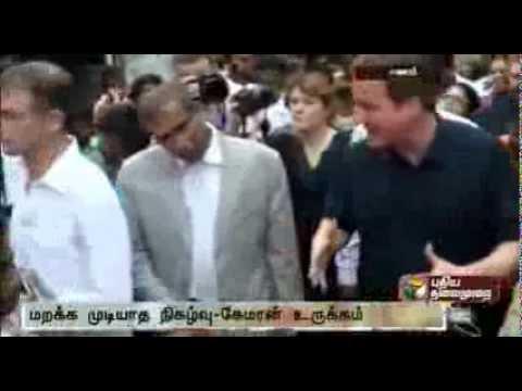 David Cameron Meets Tamil Refugees In Sri Lanka