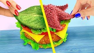 10 DIY Amazing Mermaid Fast Food vs Fairy Fast Food Challenge!