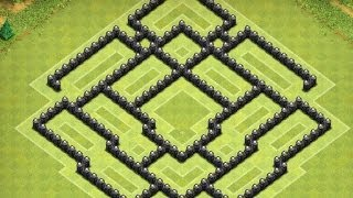 Clash Of Clans Townhall 8 Hybrid/War Base!