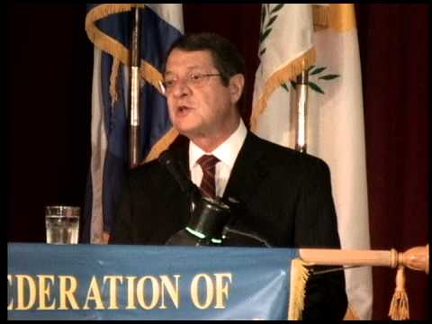 Cyprus President Nicos Anastasiades in New York:  AKTINA TV Report