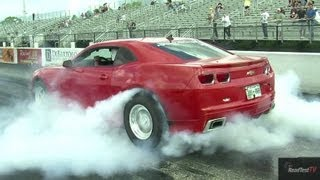 Supercharged Camaro SS Vs Tuned GTR Drag Race Video