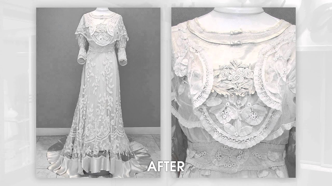 A precious vintage dress indeed a 110 year old wedding for Vintage wedding dress restoration