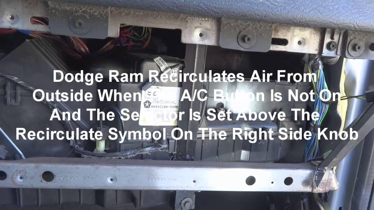 2005 Dodge Ram A C Recirculate Blend Door How To Repair