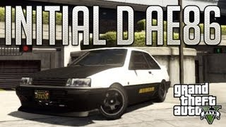 Initial D AE86 (Karin Futo) : GTA V Custom Car Build