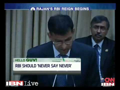 Raghuram Rajan's first speech as RBI governor