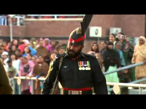 India-Pakistan Wagah border ceremony