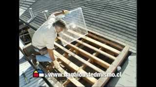 Instalar una cúpula acrilica en el techo