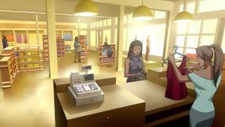 Superman/Batman Apocalypse Shopping Scene
