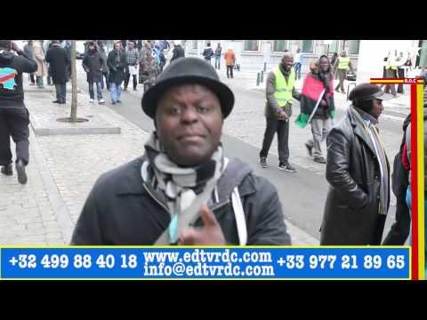 BRUXELLES:  MARCHE KABILA DÉGAGE, DÉGAGE !