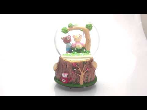 Snow globe swing bear