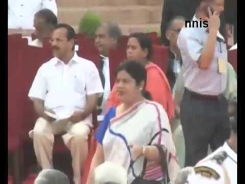 Salman Khan And Hrithik Roshan During Modi Swearing In Ceremony
