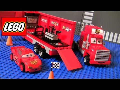 Cars 2 Lego Mack's Team Truck 8486 Complete Assembly Disney Pixar car-toys Lightning McQueen
