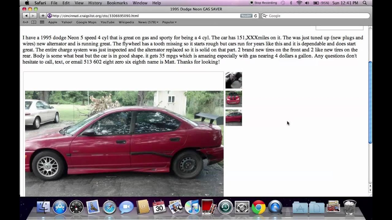 Craigslist Cincinnati Ohio Used Cars - For Sale by Owner ...