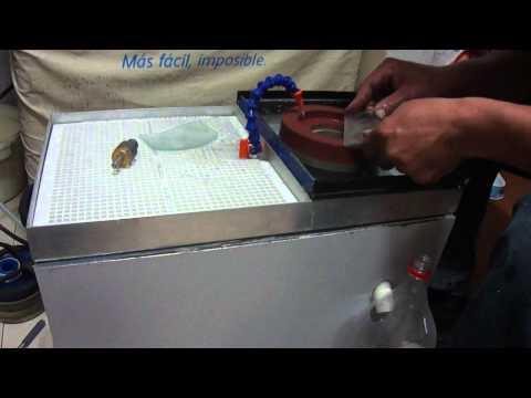 maquina para pulir y biselar vidrio  parte 1