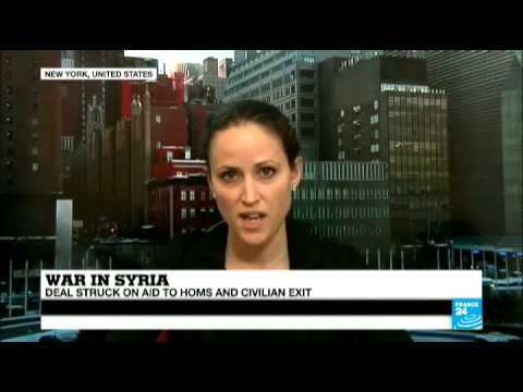 Syria: Deal struck on aid to Homs and civilian exit