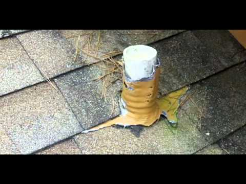 Shingle Roof Flashing Squirrel Damage To Roof Pipe
