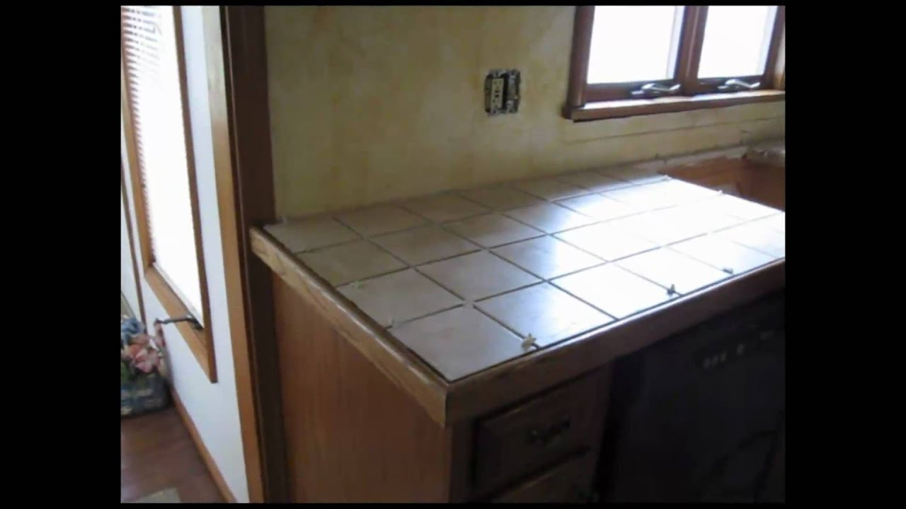 Ceramic Countertops : Ceramic Tile Kitchen Counter Top - YouTube