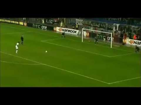 Emmaunel Adebayor penalty miss v Basel