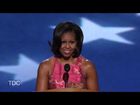 Michelle Obama's DNC Speech (HD-Full) -AV6nxR4A_1A