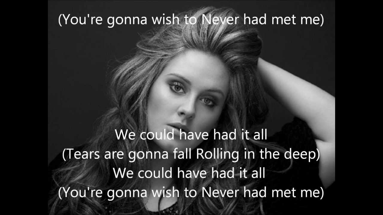 Song lyrics for adele rolling in the deep