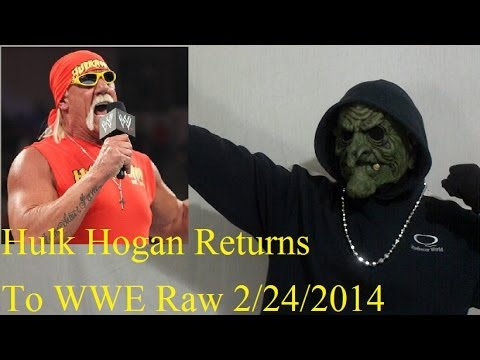 Hulk Hogan Returns To WWE Raw 2/24/2014