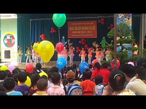 Trường mầm non Tân Tiến _ Trời nắng trời mưa Aerobic