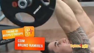 Treino de Bíceps e Tríceps com Bruno Ramires