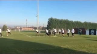 Juve, gli esercizi di Allegri in vista della Champions
