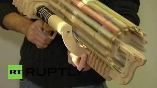 Ukraine: Student Builds Rubber Band Machine Gun