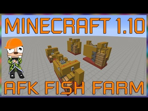 Minecraft 1.10 AFK Fish Farm Tutorial - Basic and Hardcore Builds