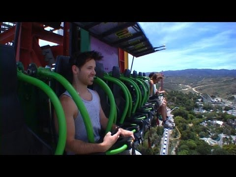 Exclusive! Ellen's Staffer Tries Out the Coasters